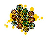 Pattern with strange floral balls. Stock Image