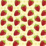 Pattern of strawberries Stock Photography
