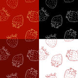 Pattern of strawberries over white background Royalty Free Stock Image
