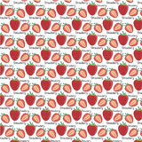Pattern of strawberries - vector illustration. Vector EPS of strawberries pattern Stock Photo