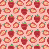 Pattern of strawberries - vector illustration. Vector EPS of strawberries pattern Royalty Free Stock Photography