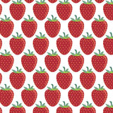 Pattern of strawberries - vector illustration. Vector EPS of strawberries pattern Royalty Free Stock Images