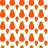 Pattern of strawberries vector Royalty Free Stock Photos