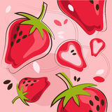 Pattern of strawberry royalty free illustration