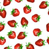 Pattern with a strawberry Royalty Free Stock Photo
