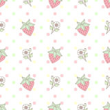 Pattern Strawberry Flower Pastel. Pattern Strawberry Flower in Pastel Vector Illustration
