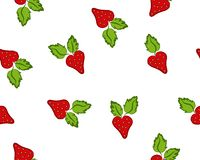Pattern with strawberry Stock Images