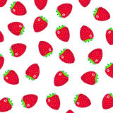 Pattern with a strawberry. On a white background Royalty Free Stock Photos