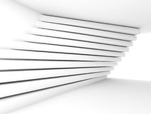 Pattern of stripe beams on the wall, 3d. Abstract empty white interior background. Room with soft window illumination and pattern of stripe beams on the wall, 3d royalty free illustration