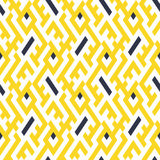 Pattern with stripe, chevron, geometric shapes Royalty Free Stock Photo