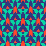 Pattern with stripe, chevron, geometric shapes Stock Images