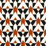 Pattern with stripe, chevron, geometric shapes Stock Photography
