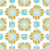 Pattern of stripes and circles Royalty Free Stock Image