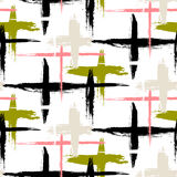 Pattern with stripes and crosses Royalty Free Stock Photos