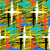 Pattern with stripes and crosses Royalty Free Stock Images