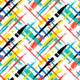 Pattern with stripes and crosses Stock Image