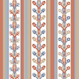 Pattern of stripes and ornament Royalty Free Stock Photography