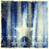 Pattern of stripes and stars on grunge background Royalty Free Stock Image