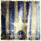 Pattern of stripes and stars on grunge background Stock Photography