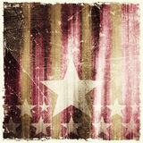 Pattern of stripes and stars on grunge background Stock Images