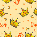 Pattern style crown theme collection Royalty Free Stock Image
