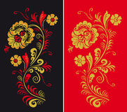 Pattern in style hohloma national creativity Stock Images