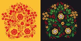 Pattern in style hohloma national creativity Royalty Free Stock Photography