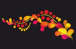 Pattern In Style Hohloma National Creativity Royalty Free Stock Image