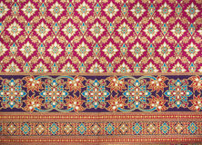 Pattern style Thai Silk Royalty Free Stock Photography
