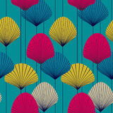 Pattern with styled  fans Stock Photos