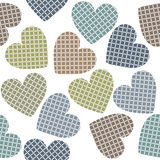 Pattern with stylish hearts Stock Images