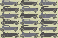 Pattern with stylish retro cars Royalty Free Stock Photography