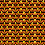 Pattern with autumn leaves. Vector illustration. Pattern with stylized autumn leaves. Vector illustration on a black background royalty free illustration