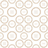 Pattern of Stylized Copper Wire Buttons Royalty Free Stock Photo