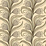 Pattern with stylized drawings of flowers Royalty Free Stock Images