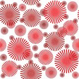 Pattern with stylized flowers Royalty Free Stock Photo