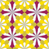 Pattern with stylized flowers Stock Photos
