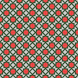 Pattern with Stylized geometric flowers Stock Images