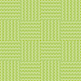 Pattern with stylized green leaves and blades of grass Stock Photography