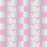Pattern with stylized grey and pink buds Royalty Free Stock Photography