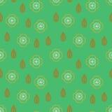 Pattern with stylized sakura flowers Stock Photography