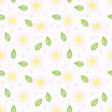 Pattern with stylized sakura flowers Royalty Free Stock Images