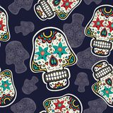 Pattern with sugar skulls Royalty Free Stock Photo