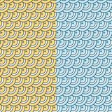 Seamless vector pattern background. Stylish, funny and modern graphic texture. Set of two color patterns yellow and blue. Stock Photography