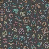 Pattern with summer symbols. Stock Photos