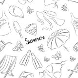 Pattern of summer symbols Royalty Free Stock Photos