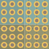 Pattern sunflower Stock Photos