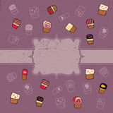 Pattern of sweets Stock Photos