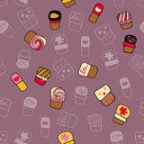 Pattern of sweets Royalty Free Stock Photography