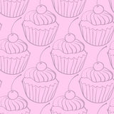 Pattern of sweets chocolate cake Royalty Free Stock Photography